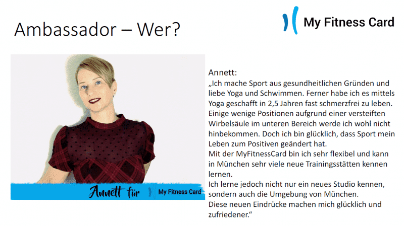 My Fitness Card Ambassador-Annett
