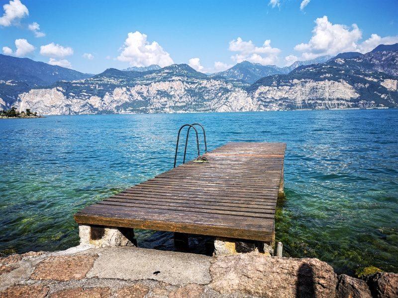 Gardasee-Steg in Malcesine