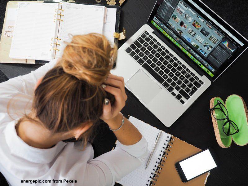 burnout stress im Büro