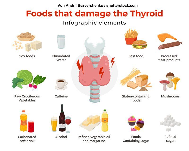 schilddrüsenunterfunktion - welche Lebensmittel solltest du reduzieren